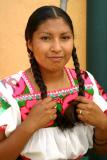 Mexican Woman With Braids