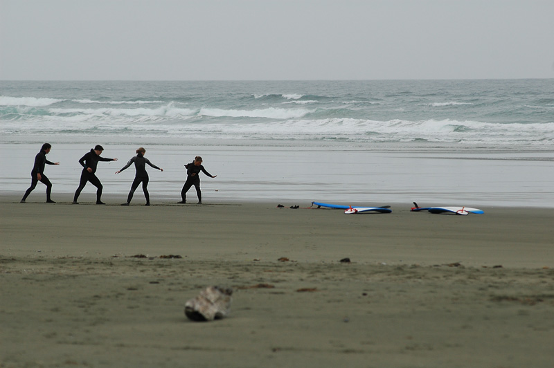 Surfing Practice on Long Beach 9