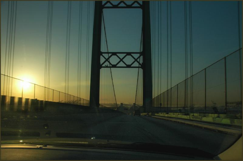 over the bridge and down the road..