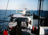 My AS350D on a seismic boat