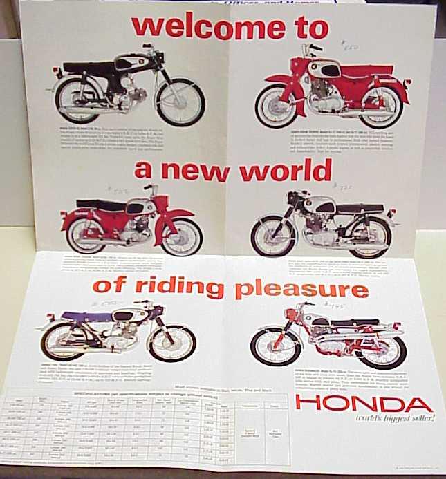 Honda 1965 poster