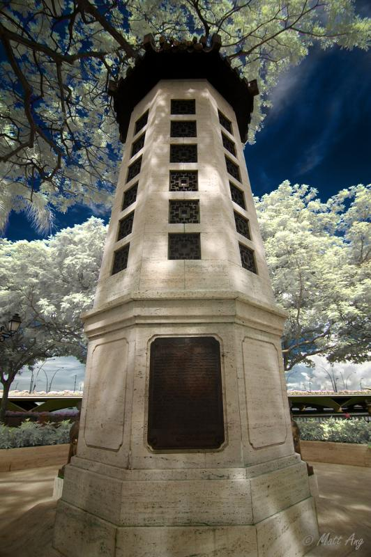 Lim Bo Bo Seng Memorial (IR Color Overlay)