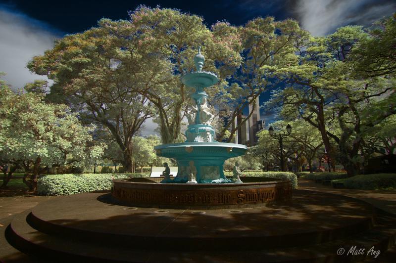 Tan Kim Seng Fountain (IR Colored Overlay)