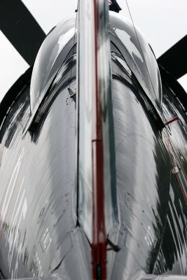 Contre-jour sur un Chance Vought F4A - 5NL Corsair