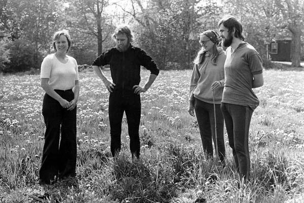 Mart Versluys, Aad Wolvers  and  Fia van Rijn with June Haskell