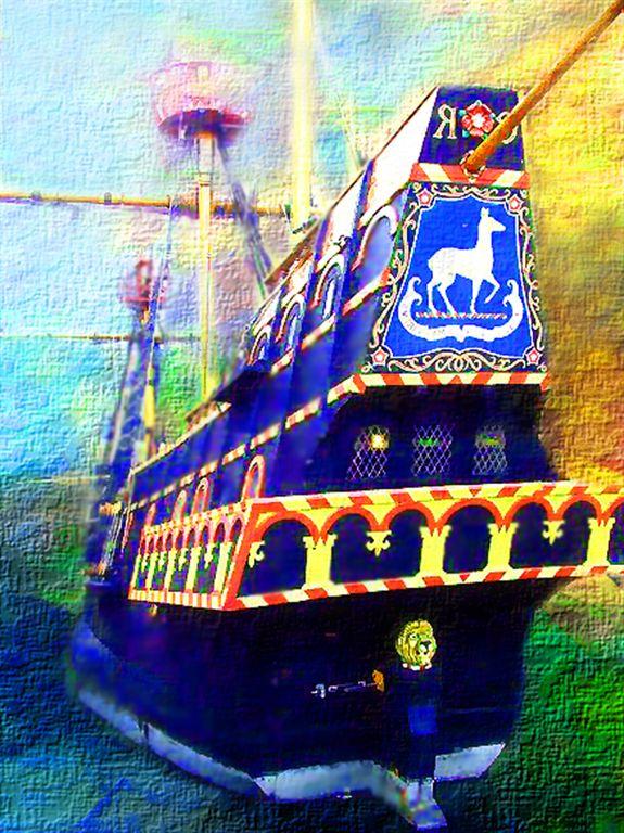 Golden Hind,- Francis Drakes Ship in London