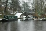 Narrowboats on the Huddersfield Canal in Uppermill 102