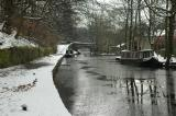 Narrowboats on the Huddersfield Canal in Uppermill 106