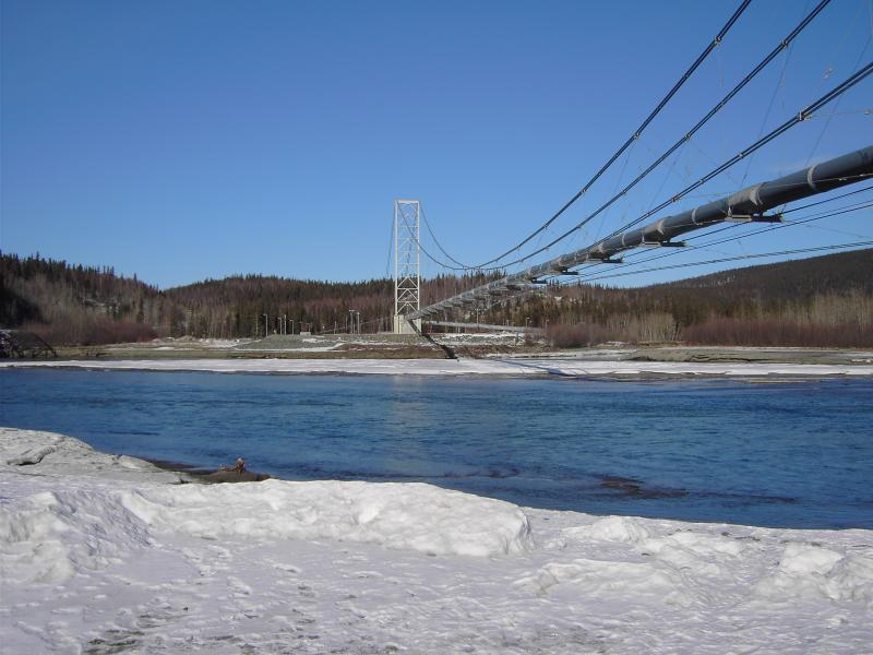 Alaska Pipeline River Crossing