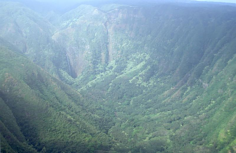 26-Molokai Pali Coast in Vog