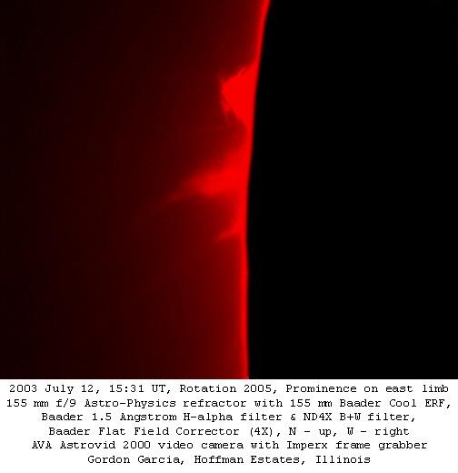 Prominence East Limb