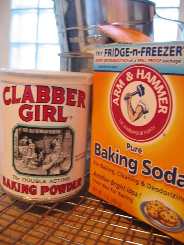 Sift 1 tsp baking powder & 1/2 tsp baking soda...