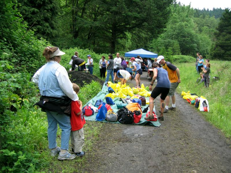 Bottom of Extendo Trail Aid Station<br>16.95 Miles</br>