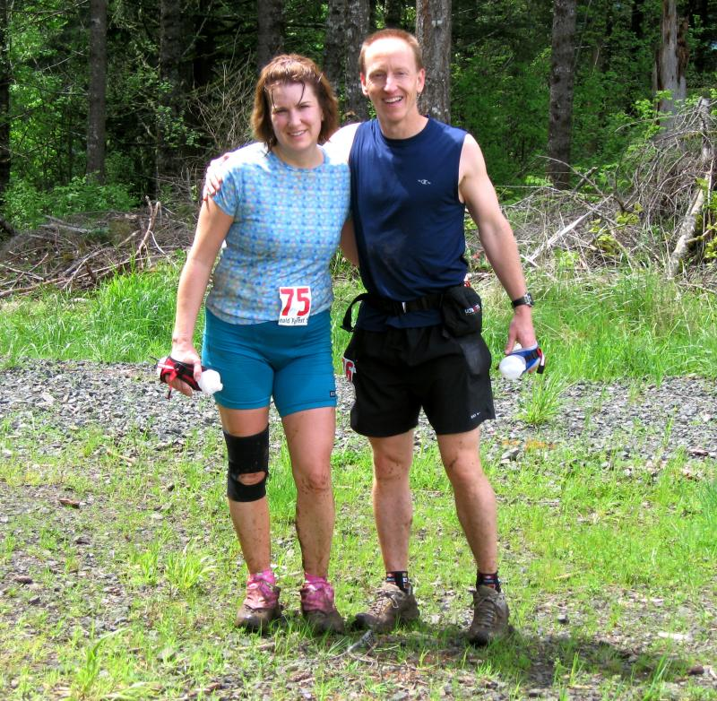 Becky & Jamie Gifford<br>This was Beckys first 50K, paced by Jamie</br>