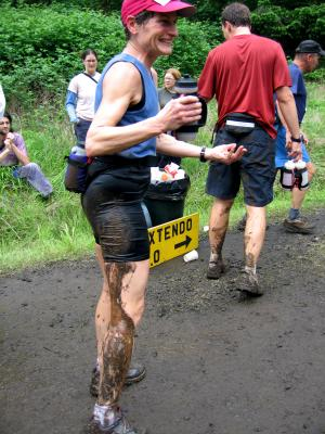 Liz Kellogg loves the mud