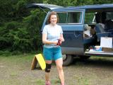 Becky heading into the aid station