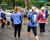 Scott gives a pre-run briefing before the Volcano Canyon run