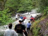Raging Volcano Creek crossing