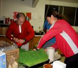 Mike & Scott preparing the wheatgrass
