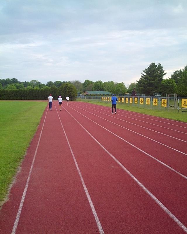 Final warmup jog