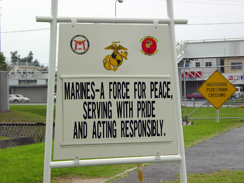 Camp Foster sign
