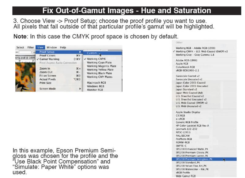 Fixing Out of Gamut Images