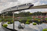 Monorail and garden