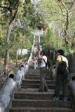 Joyce and Noon at stairs up Phu Si