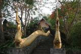 Naga stairs at Phu Si