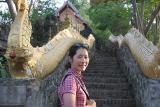 Jane and Naga stairs at Phu Si