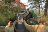 Noon and Naga stairs at Phu Si (Looking Down)