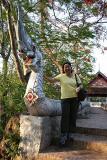 Noon and Naga stairs at Phu Si