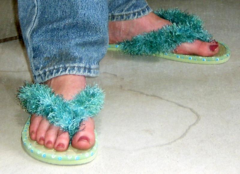 Fun Fur Flip Flops