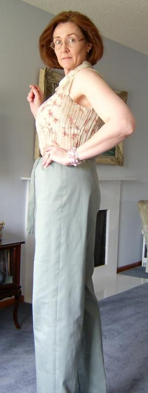 Drawstring Pants-Side View