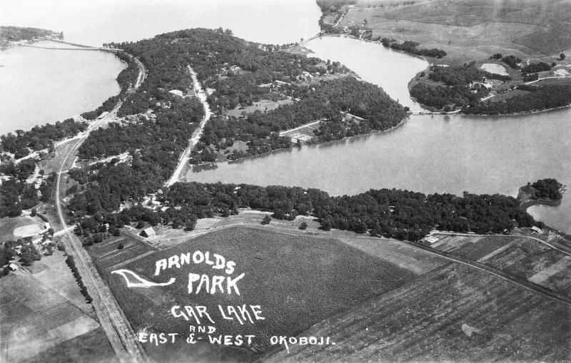 Upper Gar East and West Okoboji 1925