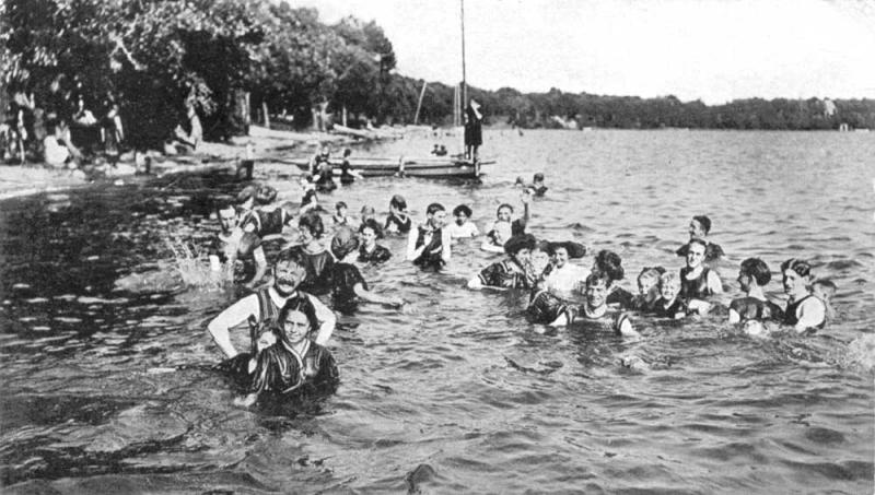 Bathing in West Okoboji Iowa 1910