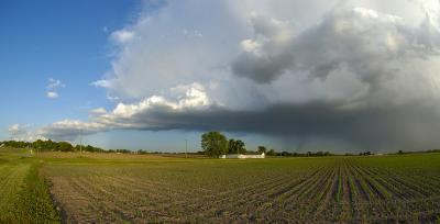 Storms Over the Prairie (Color)