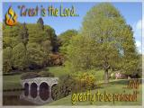 'Great is the Lord' slide from the Stourhead Pentecost series