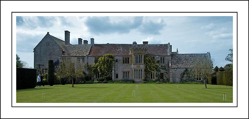 Croquet lawn, Lytes Cary Manor, Charlton Mackrell, Somerset