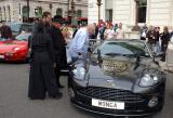 Dave Courtney admiring the Astons on Board weapons.