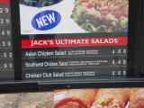salad menu at jack in the box
