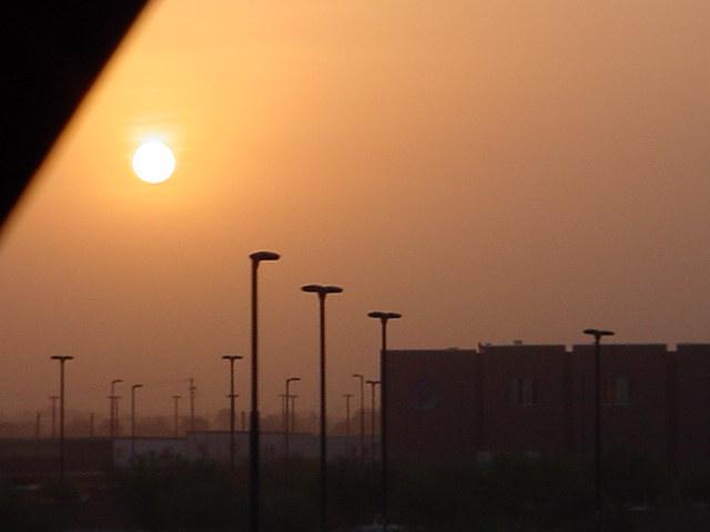 dusty morning