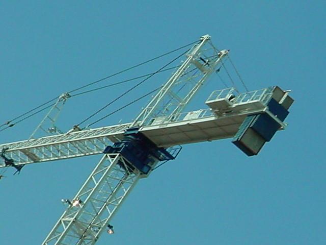 a big crane in Tempe at Arizona State University