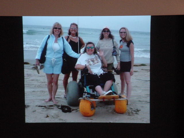 Tammy and her girlfriends in California