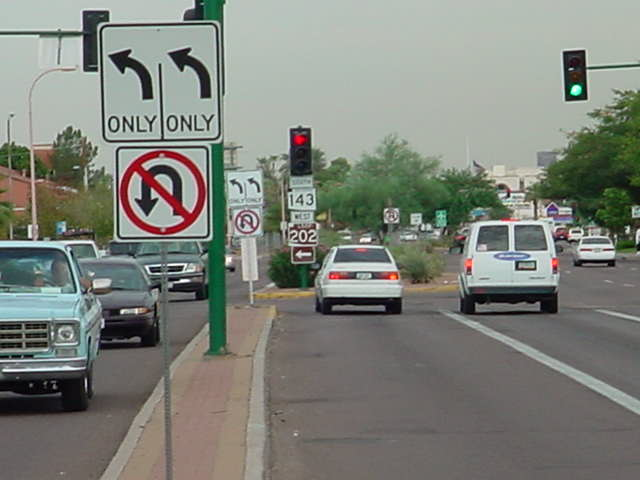 theses are the two no u turn signs we got installed
