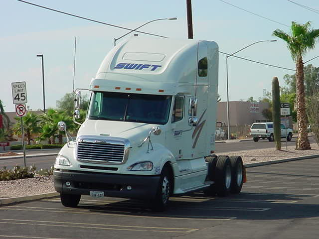 big rig parked in a parking lot in Mesa Arizona