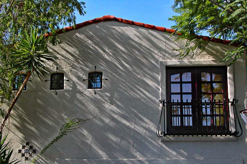 Three windows and a door