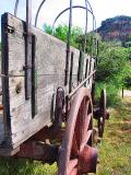 Old Wagon At The Ampitheater