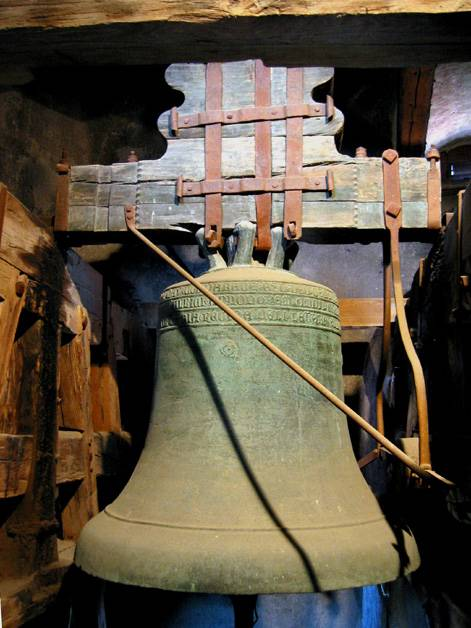 Old bell inside the Castle Tower