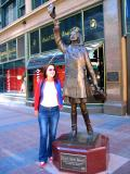 Mary Tylor Moore statue - Warehouse District in Minneapolis
